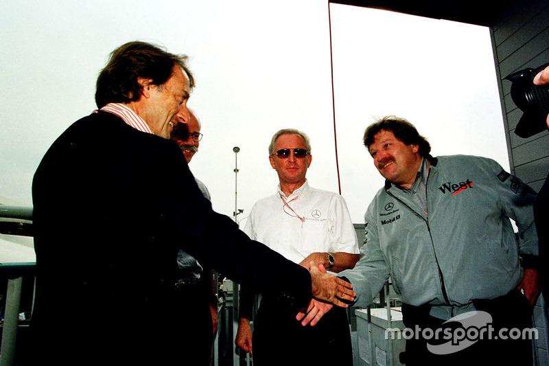 Luca Di Montezemolo, Ferrari, félicite Norbert Haug, Mercedes