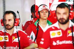Mick Schumacher, Prema Powerteam in the Ferrari pit garage