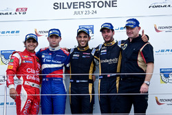 Podium: winner Roy Nissany, second place Matthieu Vaxivière, third place Rene Binder, best Rookie Pi