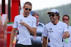 Jenson Button, McLaren Honda und Fernando Alonso, McLaren Honda