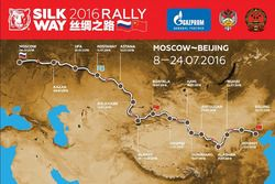 Mapa de la ruta Silk Way Rally 2016