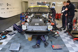#97 Aston Martin Racing Aston Martin Vantage mechanics at work on the engine