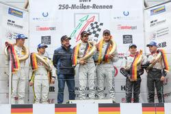 Podium: Horst Farnbacher, Sieger Dominik Farnbacher, Mario Farnbacher, Farnbacher Racing, Lexus RC F