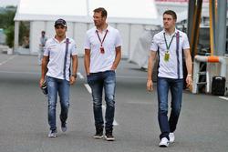 Felipe Massa, Williams, Alex Wurz, Williams versenyzői mentor / GPDA elnök és Paul di Resta, Williams