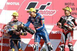 Podium: Le vainqueur Enea Bastianini, Gresini Racing Team Moto3, deuxième place Brad Binder, Red Bull KTM Ajo, troisième place Hiroki Ono, Honda Team Asia