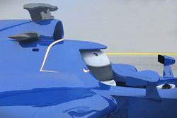 Helmet hood rendering