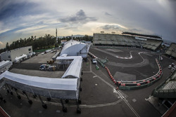 Preparazione dell'autodromo Hermanos Rodríguez