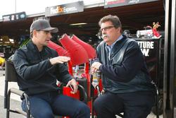 Jeff Gordon, Mike Helton, vice chairman NASCAR