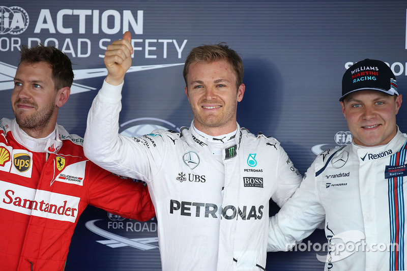 Pole de Rosberg y 'hattrick' de Bottas