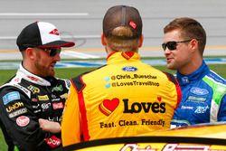 Ty Dillon, Stewart-Haas Racing Chevrolet, Chris Buescher, Front Row Motorsports Ford, Ricky Stenhous