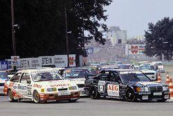 Start van de race, Manuel Reuter, MS-Mercedes; Frank Biela