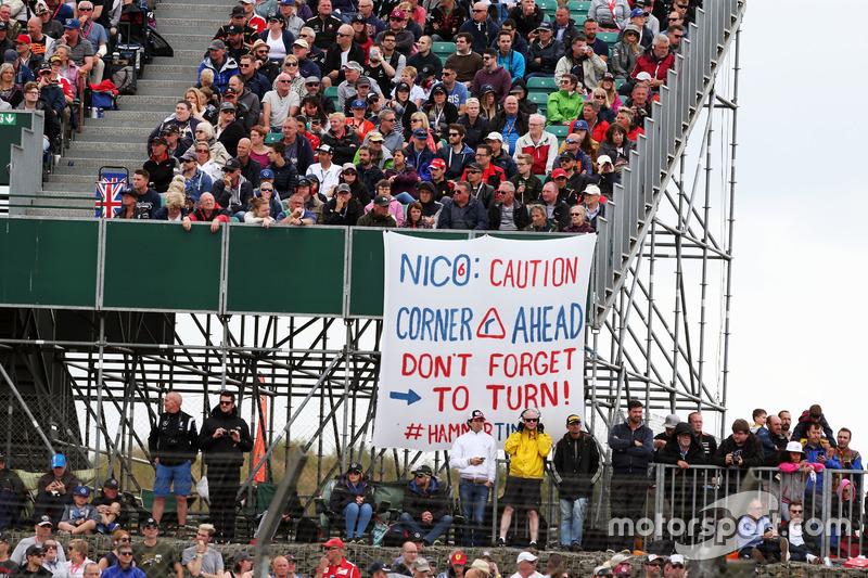 Pancarta para Nico Rosberg