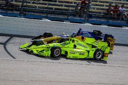 Simon Pagenaud, Team Penske, Chevrolet; Marco Andretti, Andretti Autosport, Honda