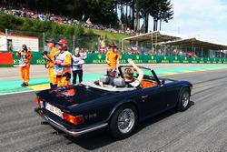 Nico Hulkenberg, Sahara Force India F1 en el desfile de pilotos