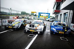 Parc Ferme with the winner cars
