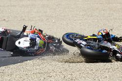 Jack Miller, Marc VDS, Loris Baz, Avintia Racing, Alvaro Bautista, Aprilia Racing Team Gresini crash