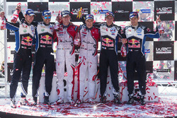 Podio: gandores Kris Meeke, Paul Nagle, Citroën DS3 WRC, Citroën World Rally Team, segundo lugar And