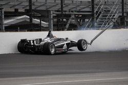 Choque de Zachary Claman DeMelo, Juncos Racing