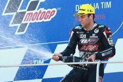 Johann Zarco, Ajo Motorsport, fête sa victoire
