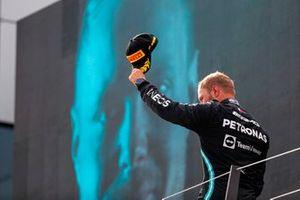 Valtteri Bottas, Mercedes, 2nd position, on the podium