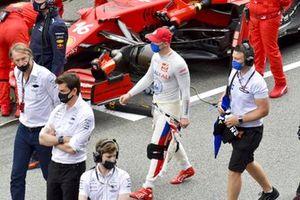 Nikita Mazepin, Haas F1, sulla griglia di partenza