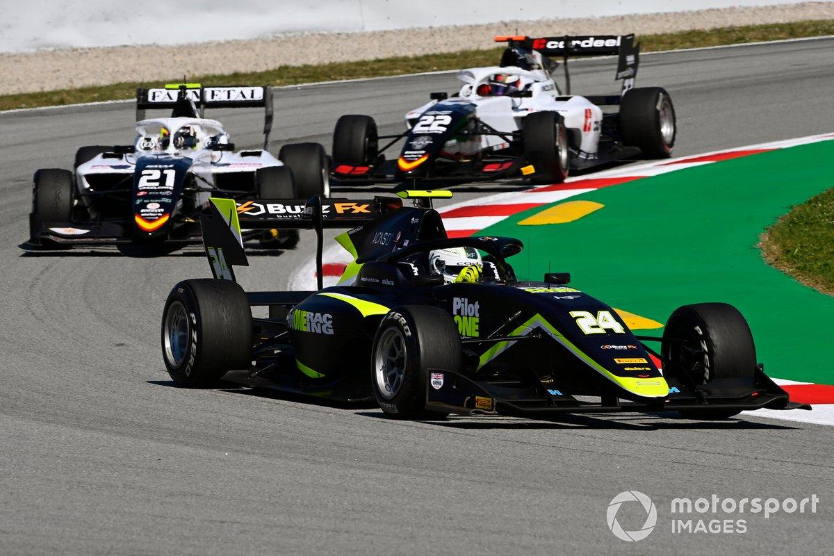 Kaylen Frederick, Carlin Buzz Racing, Lorenzo Colombo, Campos Racing, Amaury Cordeel, Campos Racing