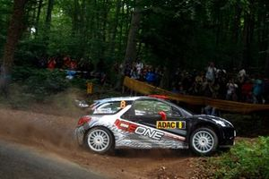 Kimi Raikkonen et Kaj Lindstrom, Citroën DS3 WRC, ICE 1 Racing