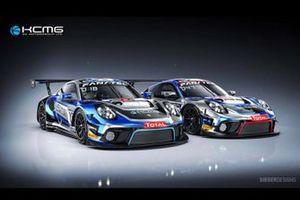 #18 KCMG, Porsche 911 GT3 R: Josh Burdon, Alexandre Imperatori, Edoardo Liberati, #47 KCMG, Porsche 911 GT3 R: Nick Tandy, Laurens Vanthoor, Maxime Martin