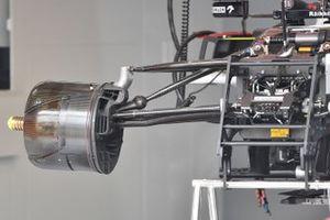 Gros plan sur un tambour de frein avant d'Alfa Romeo Racing C41