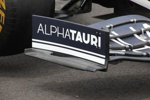 Detalle del endplate delantero del AlphaTauri AT02