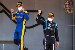Roy Nissany, DAMS and Felipe Drugovich, Uni-Virtuosi celebrate on the podium