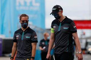 Sam Bird, Jaguar Racing, walks the track