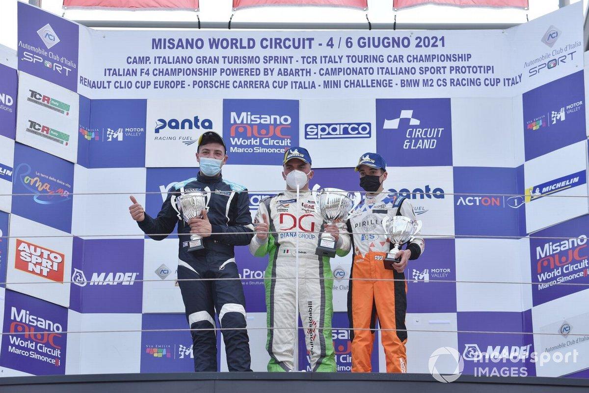 Podio DSG: Sabatino Di Mare, DMP Motors, Denis Babuin, Bolza Corse, Marco Butti, Elite Motorsport