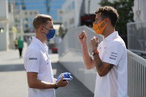 Mick Schumacher, Haas and Daniel Ricciardo, McLaren