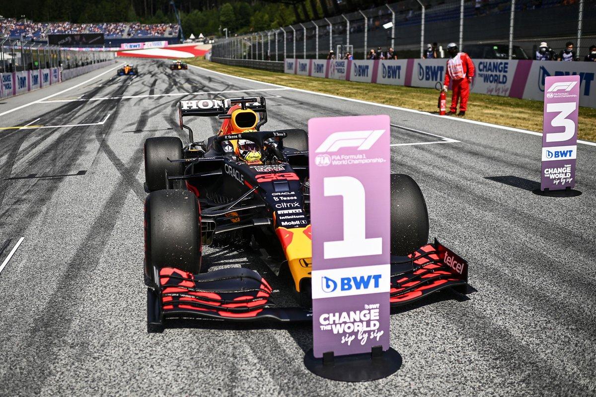 Max Verstappen en pole position