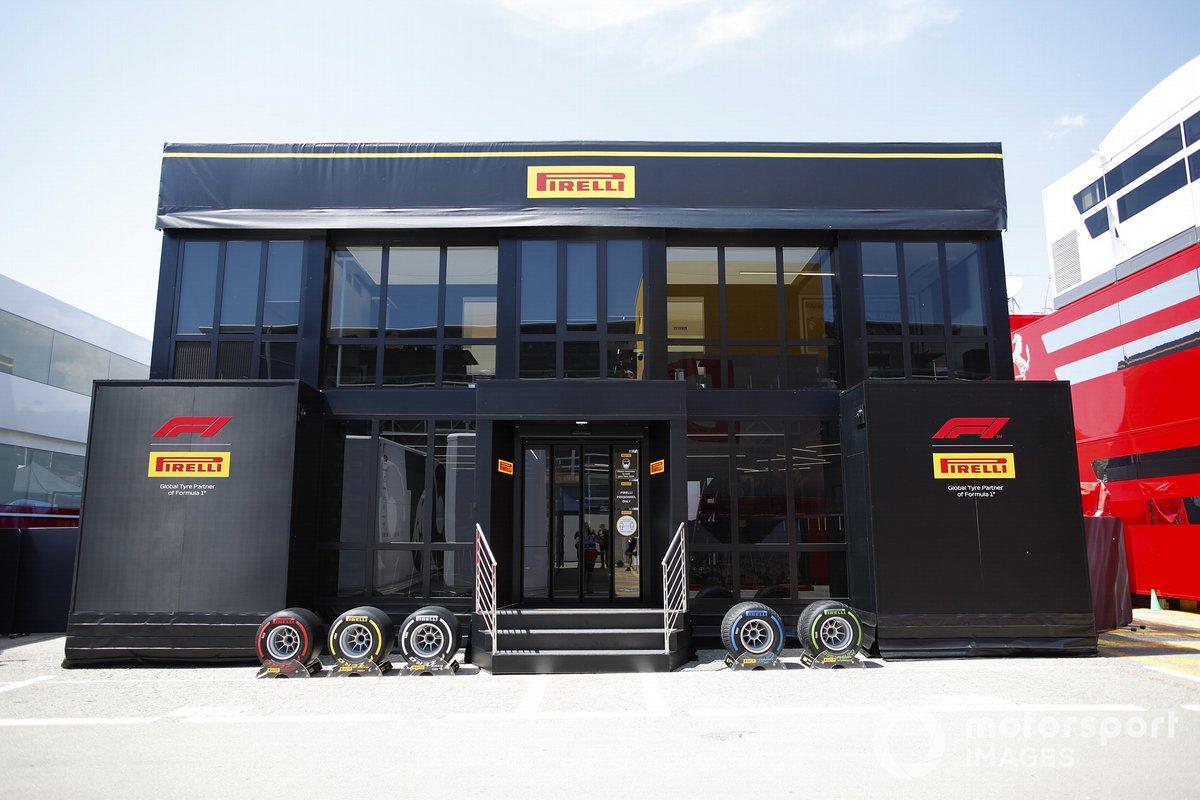 La zona de hospitalidad de Pirelli