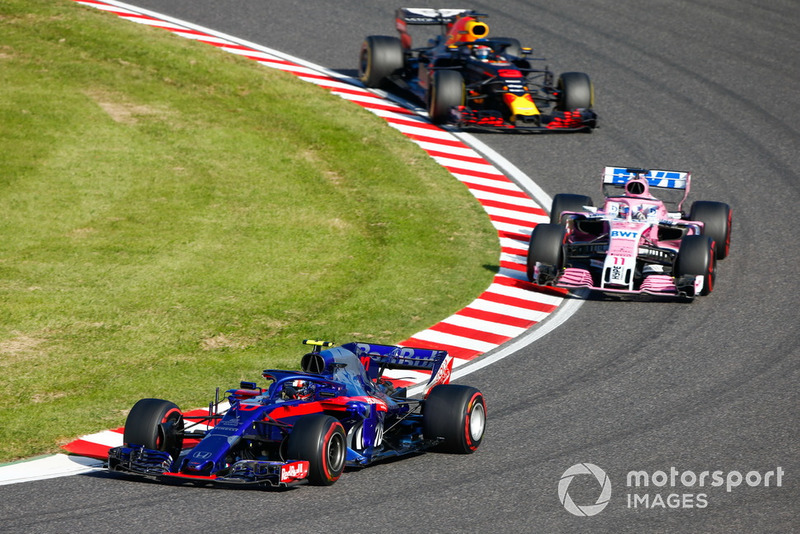 П'єр Гаслі, Scuderia Toro Rosso STR13, Серхіо Перес, Racing Point Force India VJM11, Даніель Ріккардо, Red Bull Racing RB14