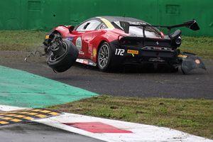 Incidente, #172 Ferrari 488, Rossocorsa - Pellin Racing: Ramelli Giuseppe