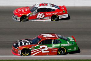 Matt Tifft, Richard Childress Racing, Chevrolet Camaro American Ethanol e15 / Sorghum and Ryan Reed, Roush Fenway Racing, Ford Mustang Drive Down A1C Lilly Diabetes