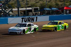 Tyler Reddick, JR Motorsports, Chevrolet Camaro BurgerFi and Matt Tifft, Richard Childress Racing, Chevrolet Camaro Go Green