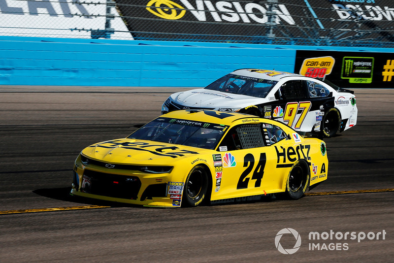 William Byron, Hendrick Motorsports, Chevrolet Camaro Hertz and Tanner Berryhill, Obaika Racing, Toyota Camry