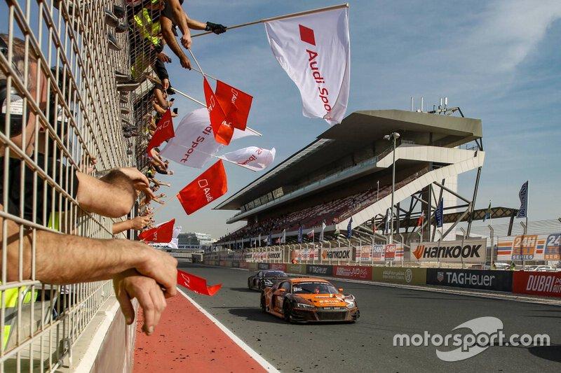 Race winner #88 Car Collection Motorsport Audi R8 LMS: Dimitri Parhofer, Christopher Haase, Frédéric Vervisch, Rik Breukers