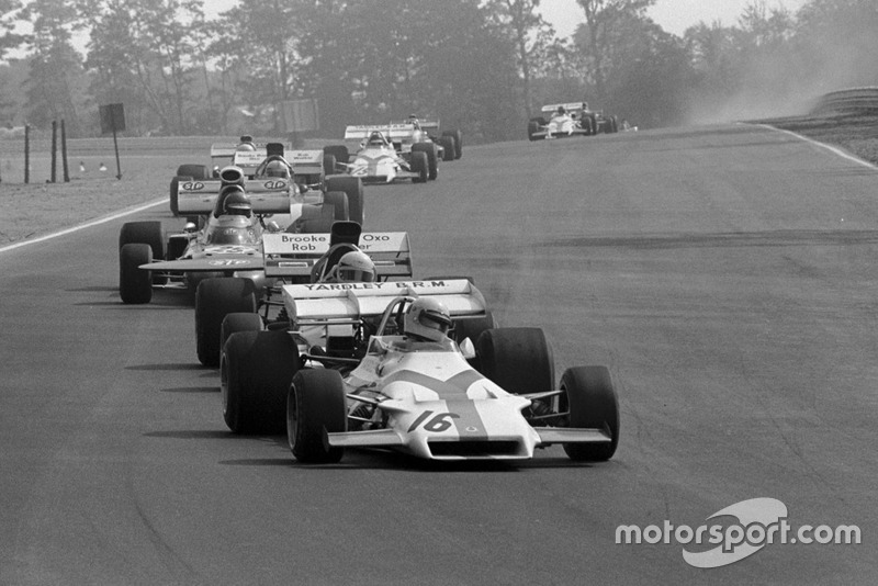 Howden Ganley, BRM P160, Mike Hailwood, Surtees TS9 y Ronnie Peterson, March 711