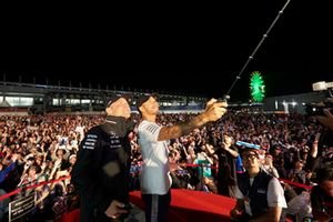 Valtteri Bottas, Mercedes AMG F1, and Lewis Hamilton, Mercedes AMG F1