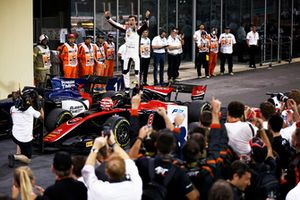George Russell, ART Grand Prix, celebrates after winning the championship