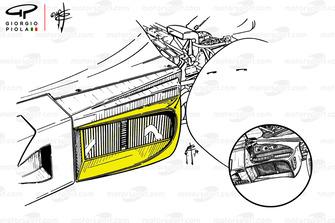 Ferrari 312B3-74 actualizó el radiador de aceite