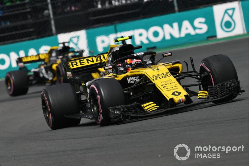 Carlos Sainz Jr., Renault Sport F1 Team R.S. 18 y Nico Hulkenberg, Renault Sport F1 Team R.S. 18