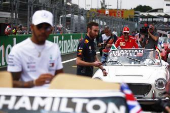 Sebastian Vettel, Ferrari, and Lewis Hamilton, Mercedes AMG F1,