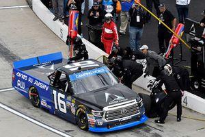 Brett Moffitt, Hattori Racing Enterprises, Toyota Tundra AW N.C. / AISIN GROUP, makes a pit stop