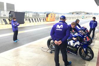 Julian Simon, nuovo coach di Maverick Viñales Yamaha MotoGP al circuito di Valencia